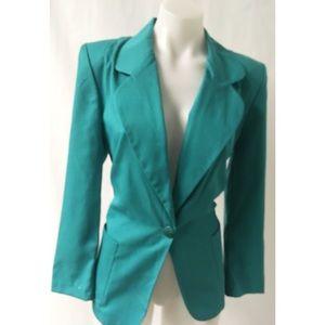 Green Blazer Size 8 Petite